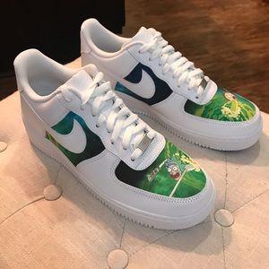 Nike Air Force 1 Custom Fabric Handmade Size 10 NWT
